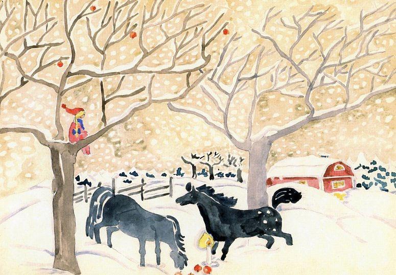 Ragna julkort från Grödinge 80-talet